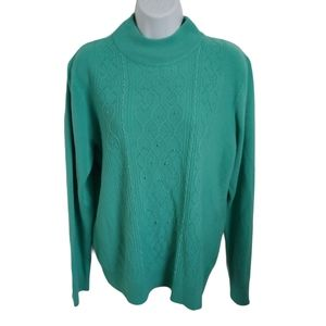 Vintage Tradition Knit Sweater, Beading, Green, L